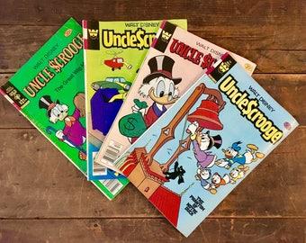 Vintage Uncle Scrooge Comic Books, Huey Dewey and Louie, Walt Disney, Comics, Ducktales, Donald Duck, Vintage Comics