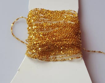 1 m gold plated fancy chain 1 mm