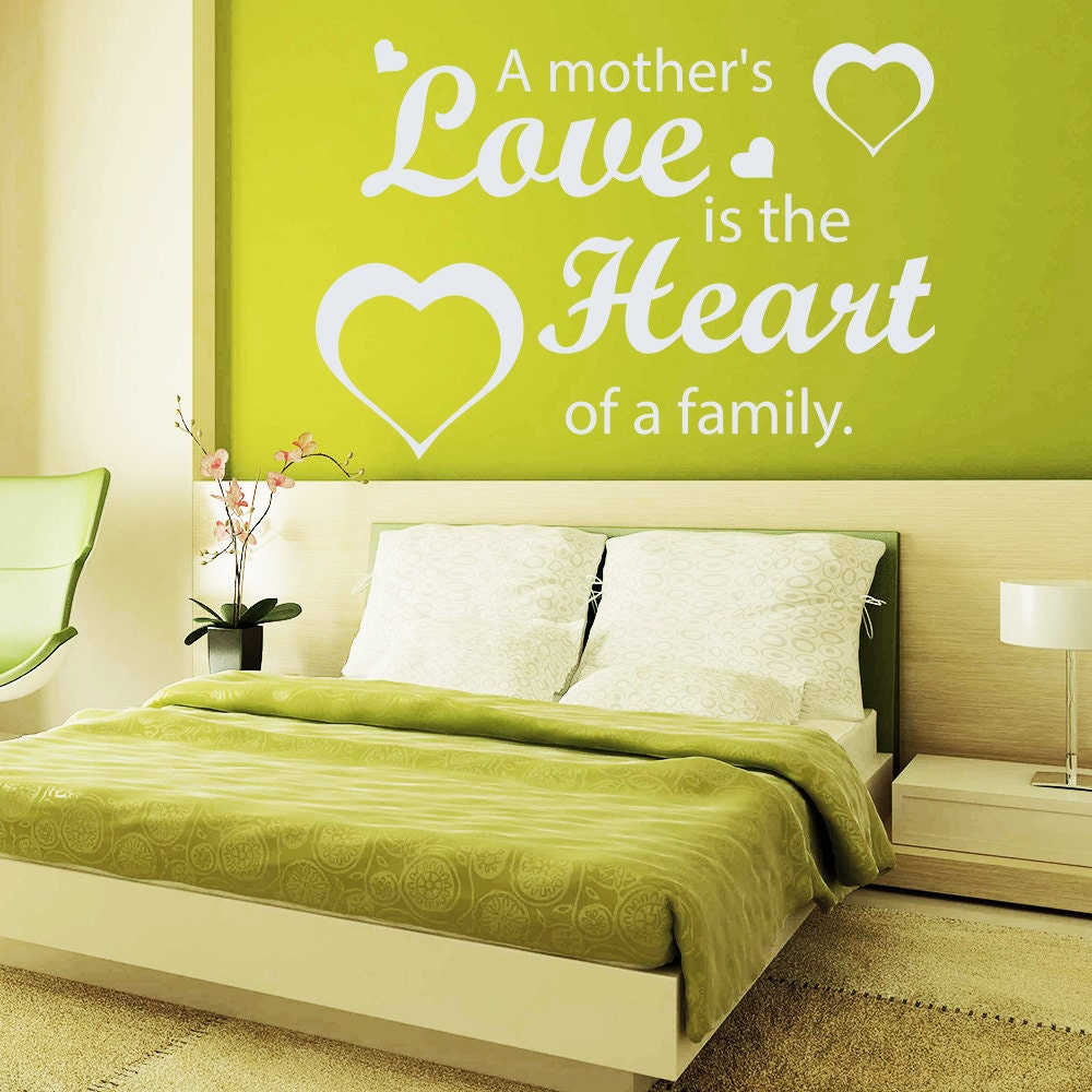 Hearts Wall Decals Quote a Mother\'s Love Is the Heart Of a