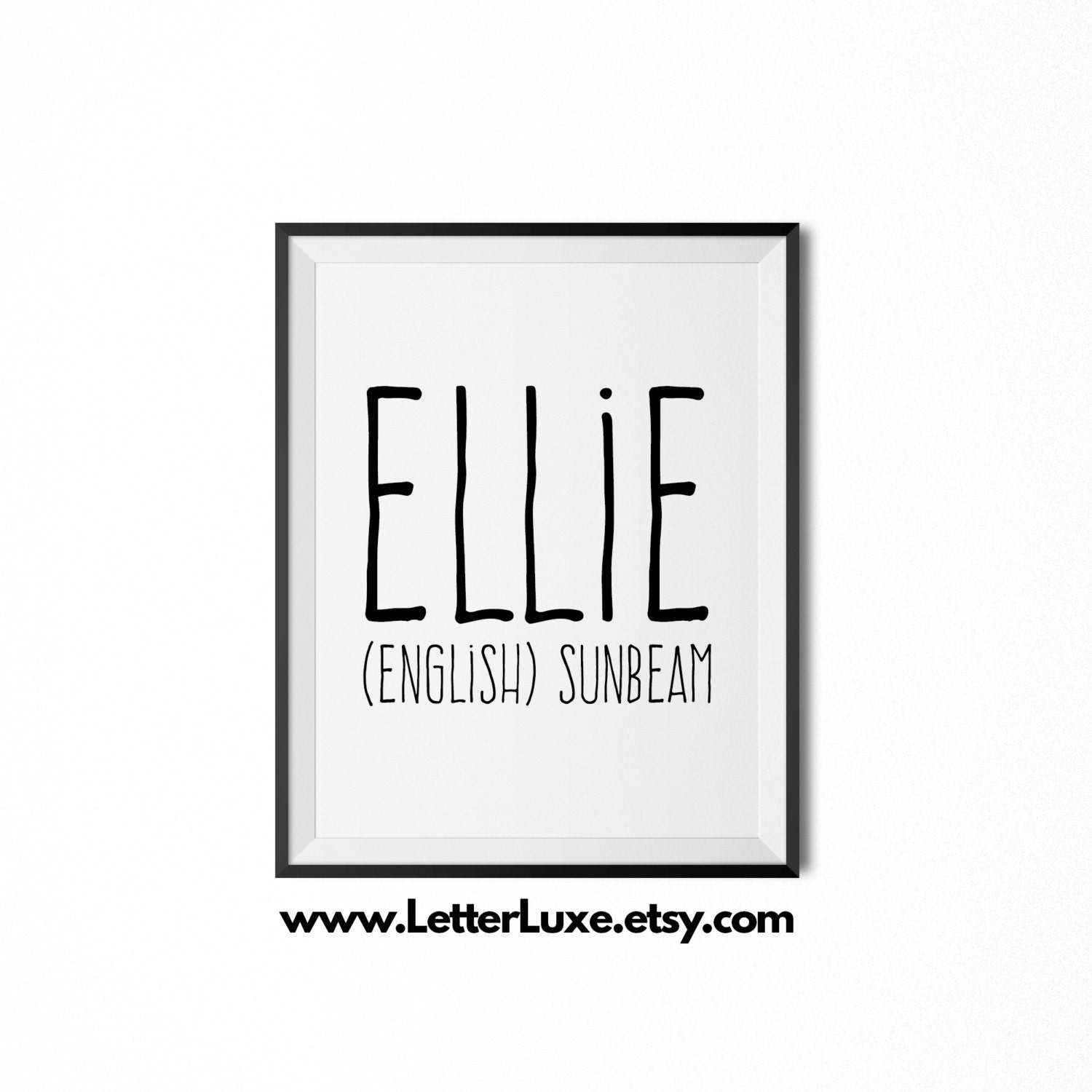 Ellie name meaning art printable baby shower gift nursery zoom negle Choice Image