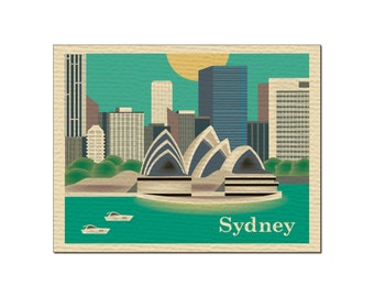 SALE Sydney, Australia Greeting Card 4.5 x 5.5 inches, Loose Petals City Art - style O-SYD