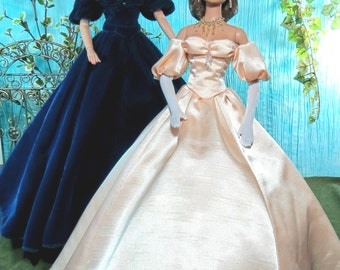 ANNA 16  Sewing Pattern for Tonner Tyler, Sydney, Scarlett and dolls with the Tyler Body An elegant 1860s gown with Hoop Pattern in 2 sizes