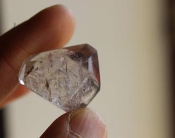 quartz with smoky quartz and amethyst shadow - Madagascar