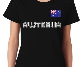 Australia Country Pride Outback Canberra Australian Aussie Sydney Melbourne Brisbane Womens T-Shirt AUS-01