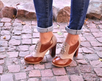 Montclair - Oxford Pumps, Womens Oxfords, Casual Shoes, Oxford Heels, Leather Shoes, Custom Shoes, FREE customization!!!
