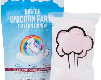 Bag of Unicorn Farts - Cotton Candy - Funny and Unique Gift