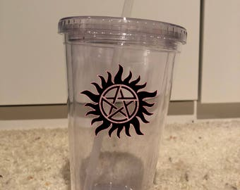 Supernatural inspired wine glass and tumbler