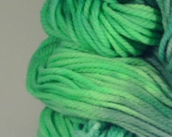 "Chunky Superwash Merino Yarn with Free Beanie Pattern - SQUEE handpainted colorway ""Little Lambs Eat Ivy"""