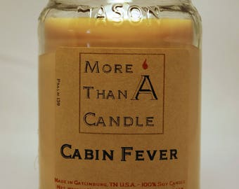16 oz Cabin Fever Soy Candle