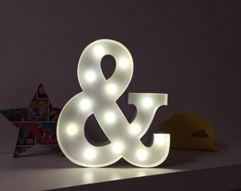 9 Inch LED Light - AMPERSAND (&)