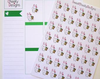 Kawaii Bunny Grocery Stickers!  Perfect for Erin Condren Life Planner, MAMBI/Happy Planner, Plum Planner, Etc.