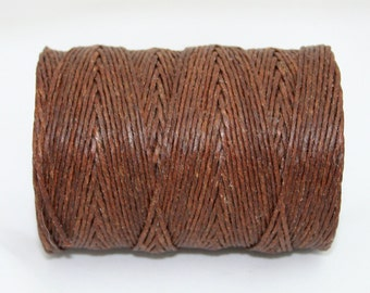 Waxed Irish Linen Thread 10 yards Walnut Brown 12 Ply