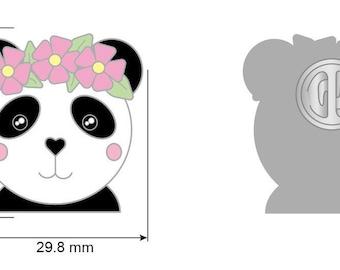 PRE ORDER: enamel pin panda - onlyhappythings