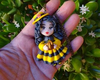 Bee Doll-Polymer Clay Doll