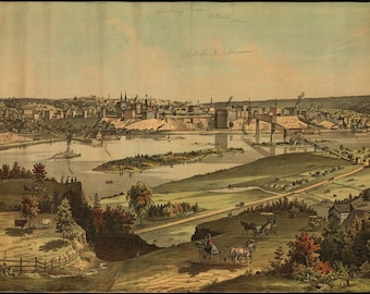 Poster, Many Sizes Available; View Of St. Paul, Minnesota 1874 Saint Paul