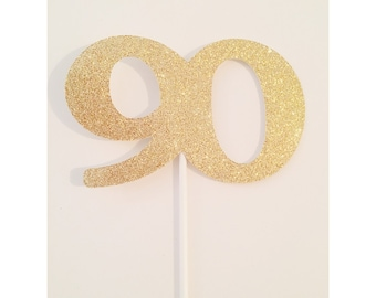 Glitter Birthday Centerpiece, 90th birthday Centerpiece, Anniversary Table Decor, 30th birthday centerpieces, Party Centerpieces- Total of 1