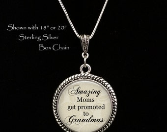 "Pregnancy reveal gift -  new grandma - new grandmother - grandma- ""Amazing moms get promoted to Grandmas"" - Pregnancy Announcement Mother"