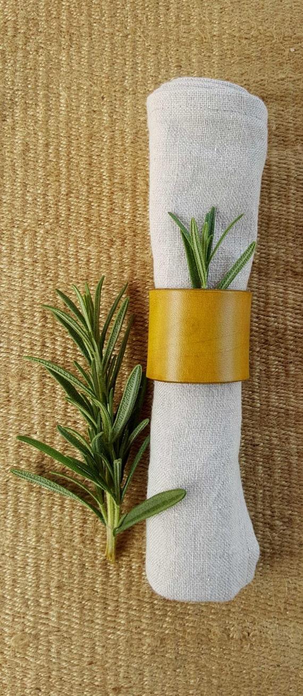 Leather Napkin Rings Chartreuse, Purple, Orange, etc Casual Dining ~ Alfresco ~ Housewarming ~ Hostess Gift ~ Home Decor ~ Kitchen Accessory