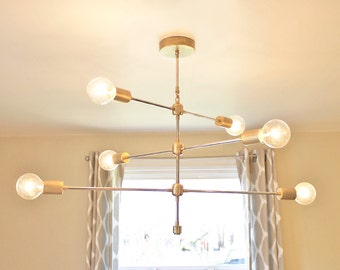 FREE SHIPPING! NEW - The Armstrong: Modern Brass Chandelier