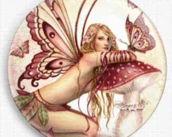 Fairy Needle Minder, Licensed Art, Small Things, Selina Fenech, Cross Stitch Keeper, Angel, Fridge Magnet,  Cross Stitch Accessory