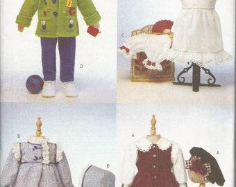 """Doll Clothes Pattern for 23"""" Doll Designed by Rachel Wallis Butterick 6373 Uncut FF Vintage Doll Clothes Sewing Pattern"""