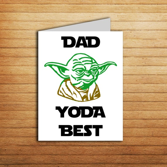 Star Wars Fathes day card for Dad Yoda Best Father's day