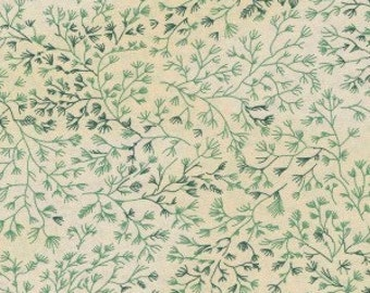 100% cotton, fabric, extra wide, green, cream, leaf, quilt backing, quilt fabric.
