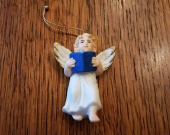 Porcelain Angel Christmas Ornament