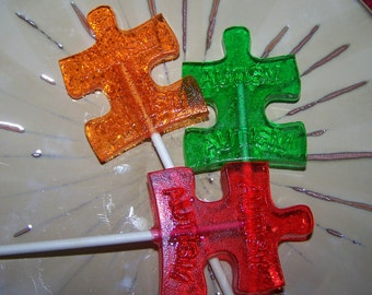 8 Autism Awarness ASD LolliPops Puzzle Piece Asperger Syndrome Charity