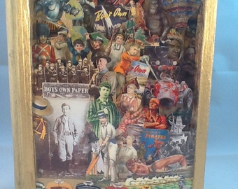 Nelson's Budget for Boys; Altered Art Book; Diorama; Repurposed Book; Vintage Children's Book; OOAK