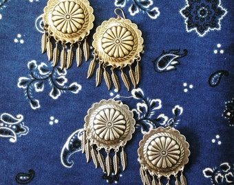 Dreamcatch Feather Concho Earrings
