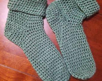 Crochet oversized cabin socks/slippers -made to order