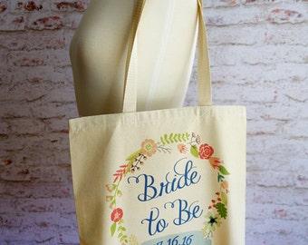 Bride to Be tote bag, Bride tote bag, Bride Bag, Wedding tote bag, Wedding, Future Mrs.