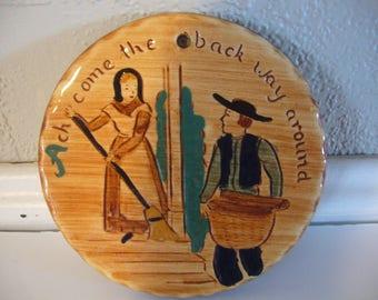 Pennsbury Pottery - Pennsylvania Dutch Folk Art Tile - Amish Americana Trivet