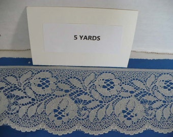 5 Yards 2 1/2 in. Off White Scalloped Polyester Lace