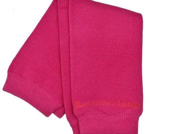 Organic Baby Leg Warmers Hot Pink