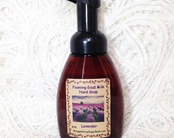 Foaming, Goat Milk, Hand Soap, Lavender, floral scented, teacher gift, mother's day gift Moeggenborg Sugar Bush