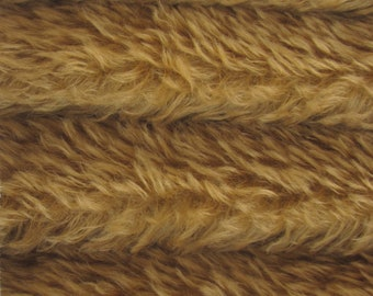Quality 380V - Mohair - 1/3 yard in Intercal's Color 462S-Camel. A German Mohair Fur Fabric for Teddy Bear Making, Arts & Crafts