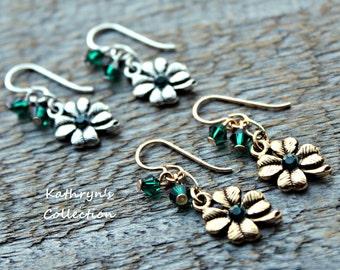 Shamrock Clover Earrings, Shamrock Jewelry, St. Patty's Day Earrings, Irish Jewelry, Four Leaf Clover Earrings