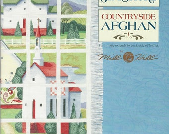 "Clearance-""Countryside Afghan"" Jim Shore Counted Cross Stitch Booklet by Mill Hill"
