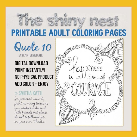 Printable Coloring Page Adult Art Therapy