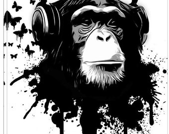 """Giclee Canvas Wall Art """"Monkey Business"""" by Nicklas Gustafsson"""