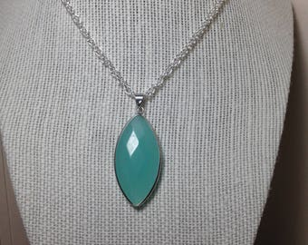 Mint Green and Silver Necklace
