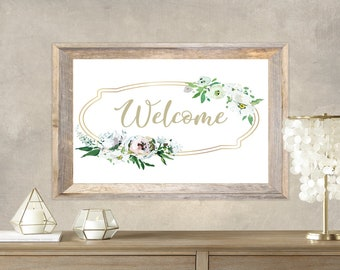 PDF Printable Art - Floral Welcome 7