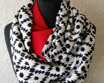 Tribal Scarf Boho Infinity Scarf Aztec Scarf Women Winter Fashion Accessories Holiday Gift Christmas Gifts For Her For Women