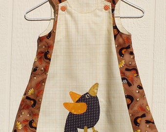 Crows of Autumn A Line Dress Size 12 months