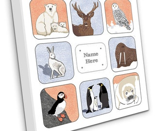 Personalised Polar Animals on Canvas
