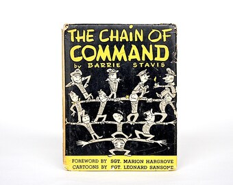 Chain of Command - Military Humor - Funny Book - Army Humor - Toilet Paper - Humorous Book - Vintage Book - Satire - Cartoons