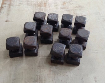12 Industrial Machine Bolts, Salvaged Hardware, Steampunk, Assemblage Supply, Vintage Nuts and Bolts