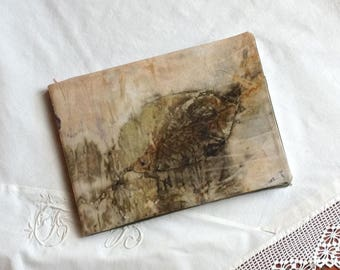 CS028 notebook, poetry, sketch, drawing, naturally dyed cotton, artisan dyed by contact